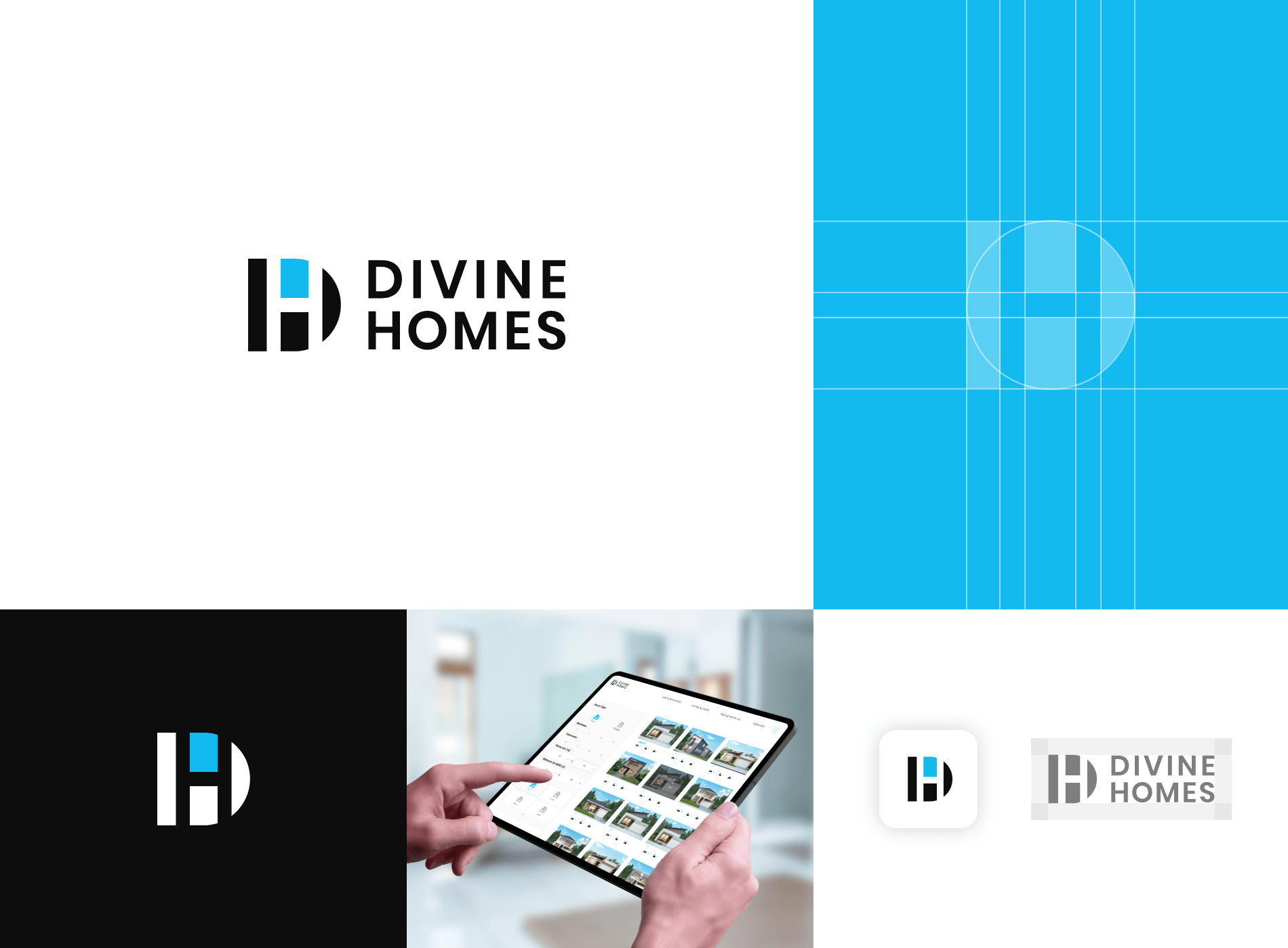 branding diseñador grafico divine homes logo