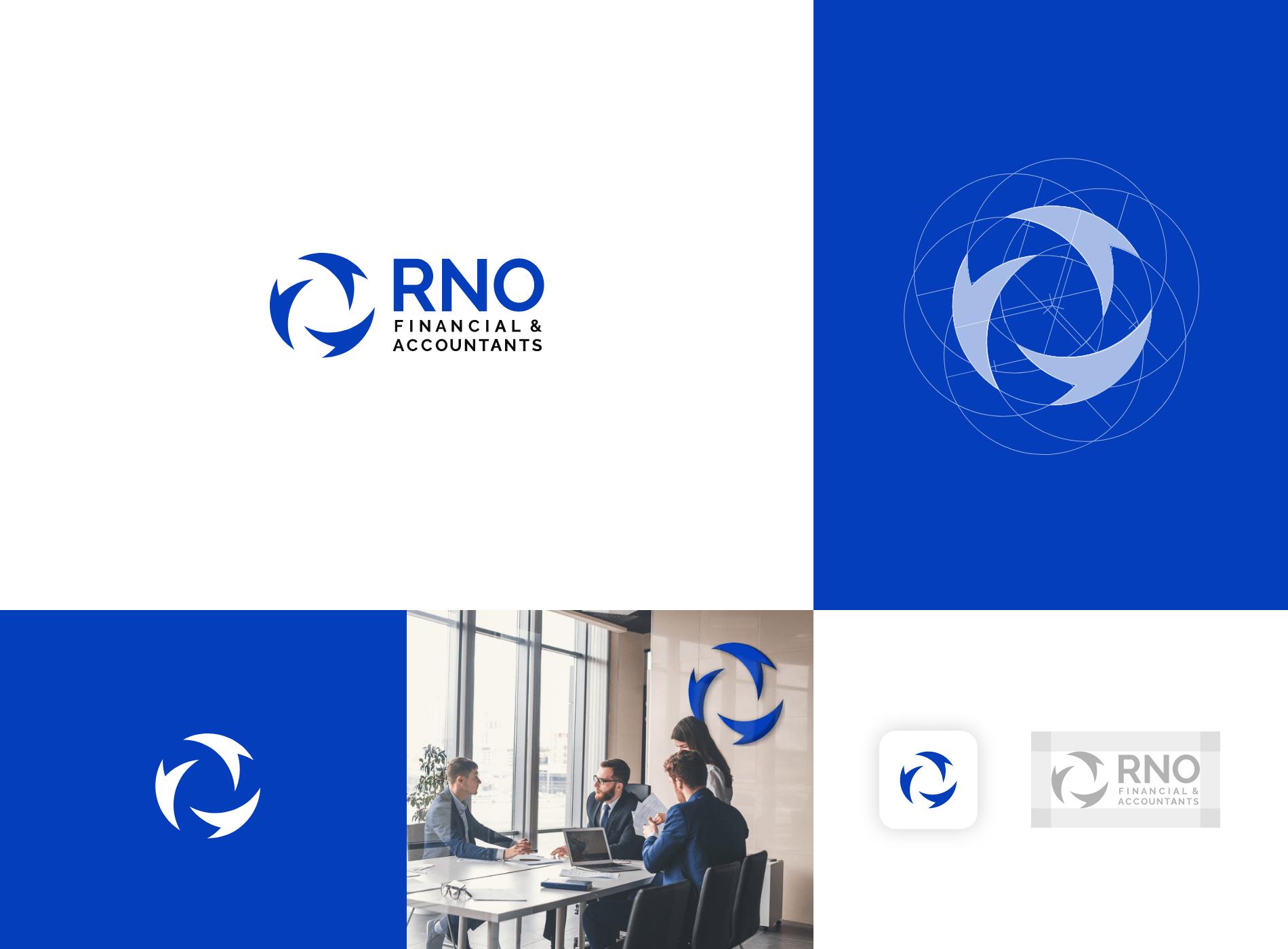 branding diseñador grafico rno financiera logo