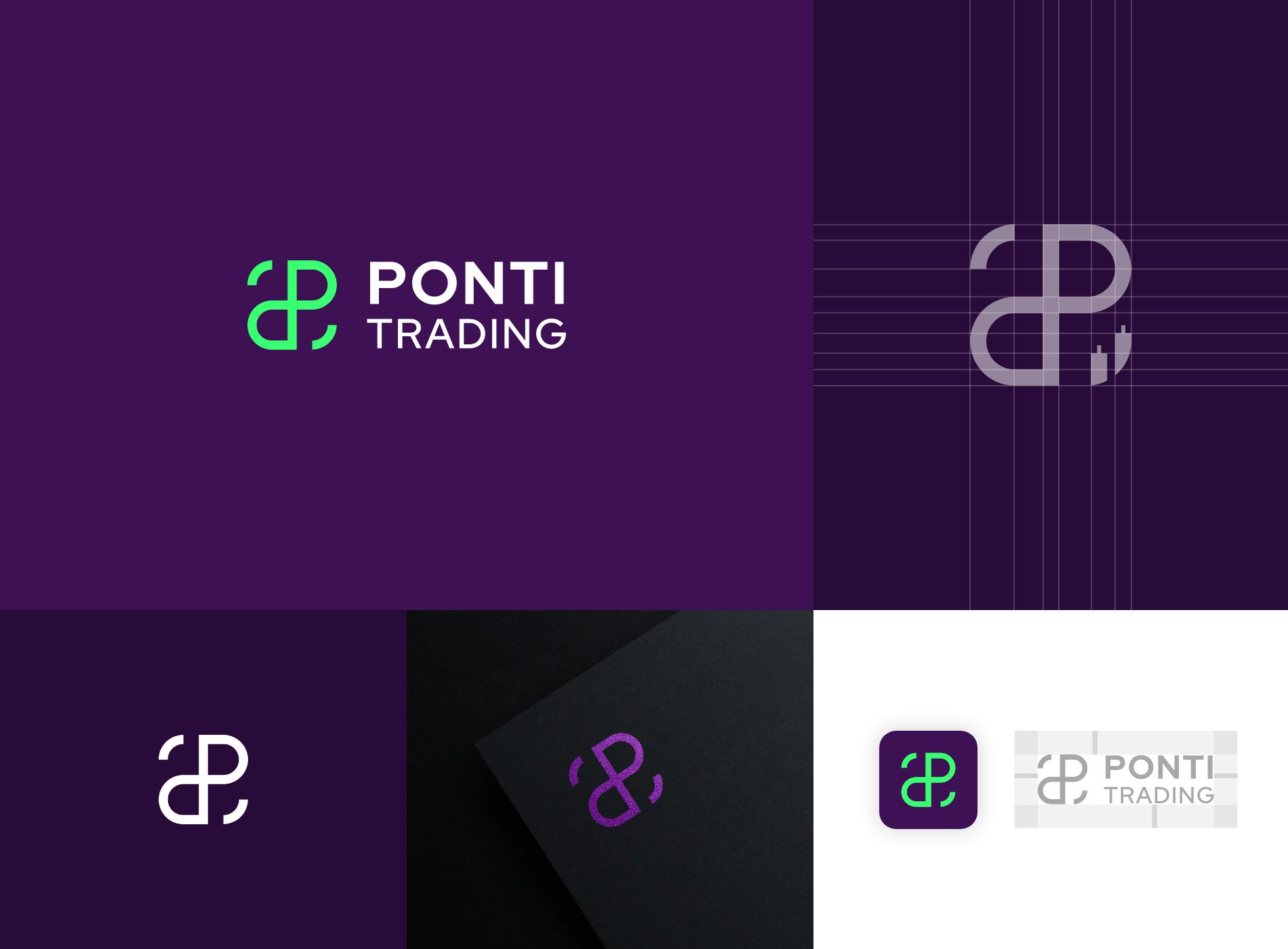 branding diseñador grafico trading logo