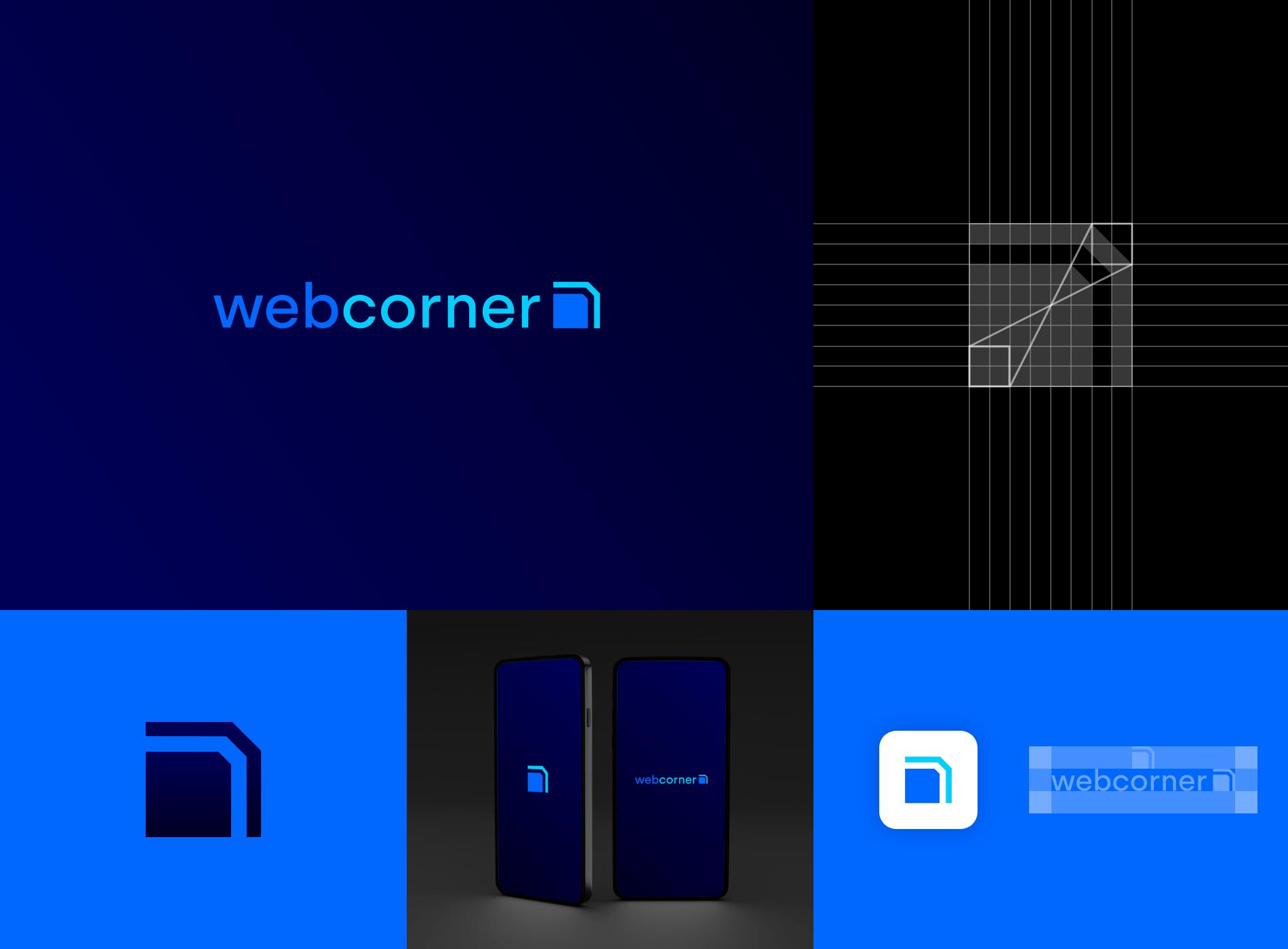 branding diseñador grafico webcorner logo
